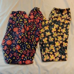 Flower LulaRoe legging lot